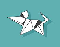 Origami Flat Icons - Chinese Zodiac