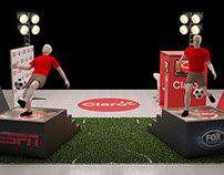 Claro - exhibition stand FÚTBOL