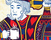 "KISHI BASHI ""Royal Daark Blend"" Coffee Label"