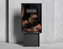 Billboard Stand Advertising Poster Mockup Free