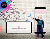 Samsung Galaxy S8 Portrait And Landscape Mockup