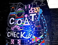 Coat Check Mural for Tumblr 2014 Year in Review Party