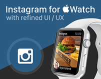 Instagram for Apple Watch with refined UI / UX