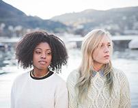 Lifestyle shooting of two beautiful multiracial girls