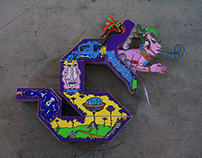 Paper toy || Manglar Urbano exhibition, Mexico, 2014