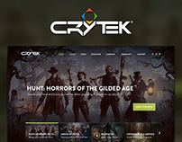 Crytek Homepage Redesign