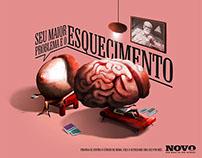 Ilustração para Anúncio - Cancer de mama.