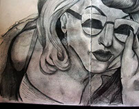 Sketch book Lady Gaga