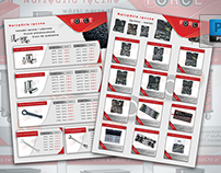A4 Brochure with items in promotions