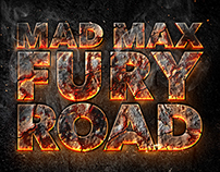 Mad Max fury road typographic fan art