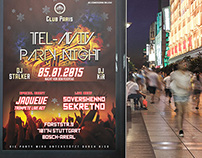 Flyer & Poster // Tel-Aviv Party Night vol.8 //