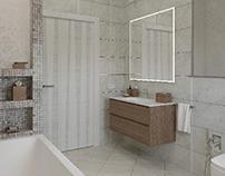 Визуализация ванной комнаты, 2 варианта