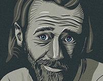 George Carlin portrait