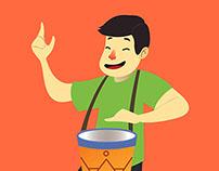 Ilustração para camisa de Bloco de Carnaval
