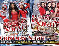 Freelon's Lounge Christmas Night Turnt Up Flyer Design