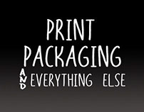 Print, packaging, exhibitions etc.