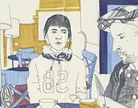 Рисунки для Кафе Студии Артемия Лебедева (2010)