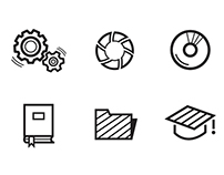 Set of simple vector icons