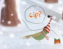 Happy Cipmas - Christmas Illustration