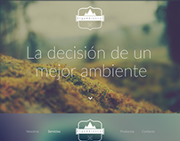 Environmental company website (Spanish)