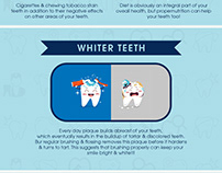 IMPROVE THE HEALTH OF YOUR SMILE INFOGRAPHIC