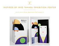 Ikko Tanaka Exhibition Poster - 4th semester assignment