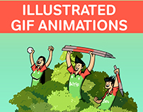 Illustrated GIF animations