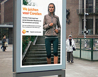 Billboard campaign Marathon Rotterdam
