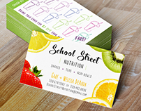 School Street Nutrition Business Card Design