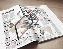 ABC . Typographical infographics