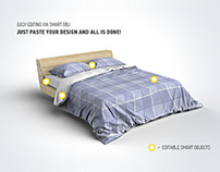 Bed Linens Mock-Up / Bedding Set Template