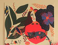 2015 Wall Calendar - jardin de l'amour