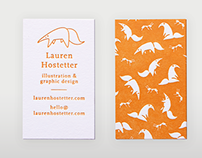 Lauren Hostetter Design — Freelance Business Cards