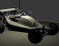 RC Car 3D Modeling (UV Texturing In Process)