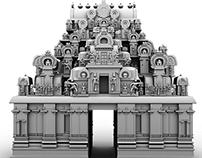 South Indian temple Gopuram