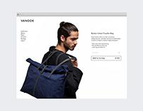 VANOOK — clean, minimalistic online shop