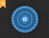 Christmas Mandala | Free Download