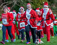 Santa Fun Run. Alexandra Park. Hastings. UK