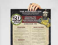 Poachers Inn Christmas Menu Illustrations