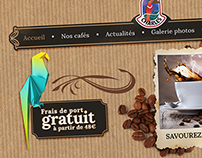 Webdesign for a coffee website.