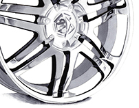 Chrome Wheel Marker Render