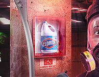 Clorox mata el 99.9% de las bacterias :)