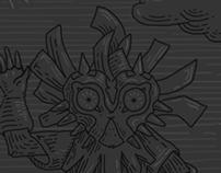 Majora´s Mask Tarot Engraving