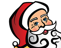 Santa Temporary Tattoo Design