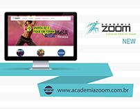 Web Design | Novo Website criado para a Academia Zoom