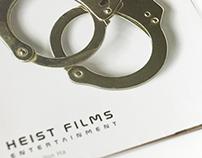 """Folder da exposição """"Heist Films"""""""