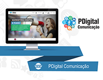 Web Design | Website da agência PDigital Comunicação