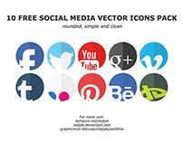 10 Vector Social Media Icons [FREE]