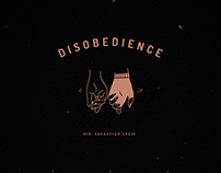 DISOBEDIENCE (2018) movie poster remake