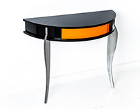 Oranje - Console table (high gloss+steel)